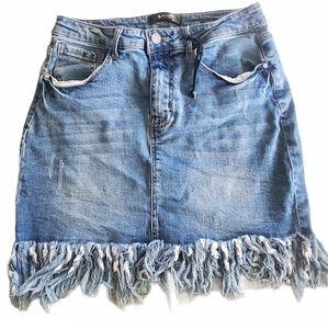 Black Label Denim skirt large